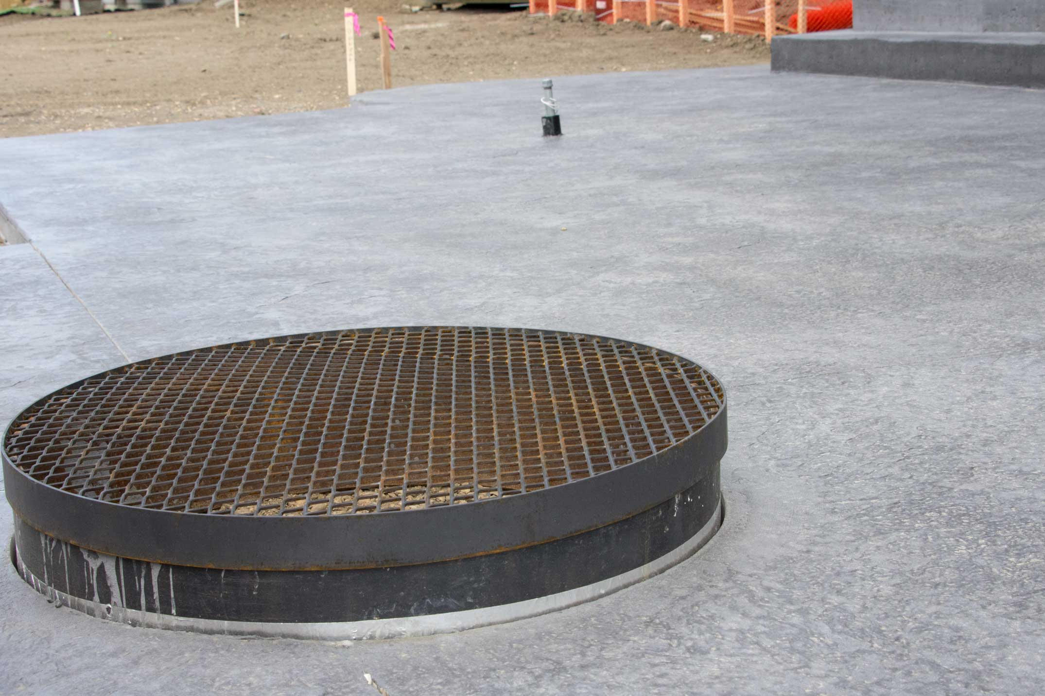 Built in fire pit young guns concrete for Fire pit on concrete slab
